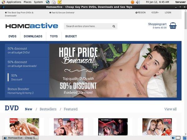 Homoactive Updated Passwords